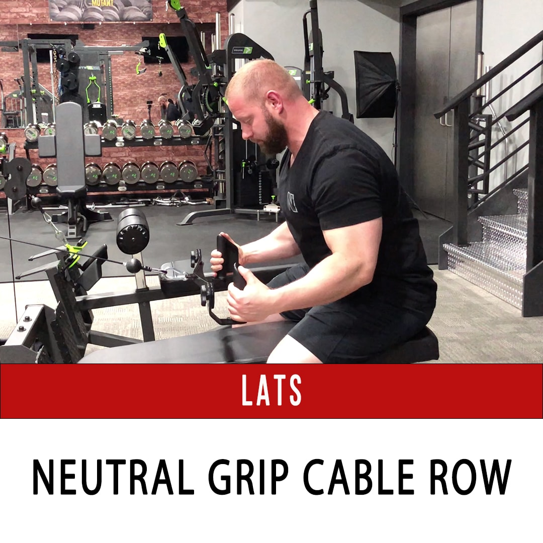 Lats Seated Neutral Grip Row