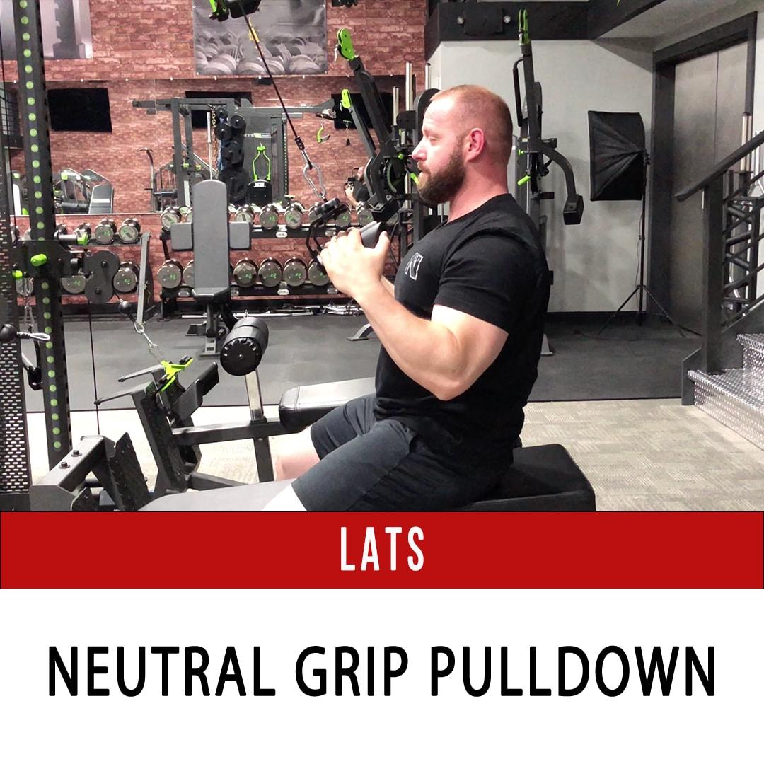 Lats Neutral Grip Pulldown