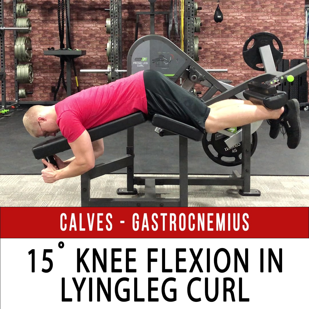 Gastrocnemius 15˚ Knee Flexion with Lying Leg Curl - Prime Plate Loaded