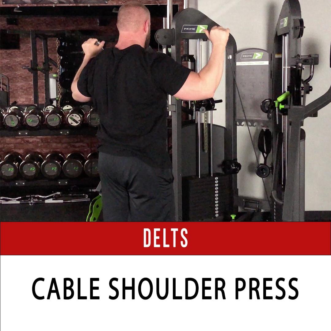 Standing Cable Shoulder Press