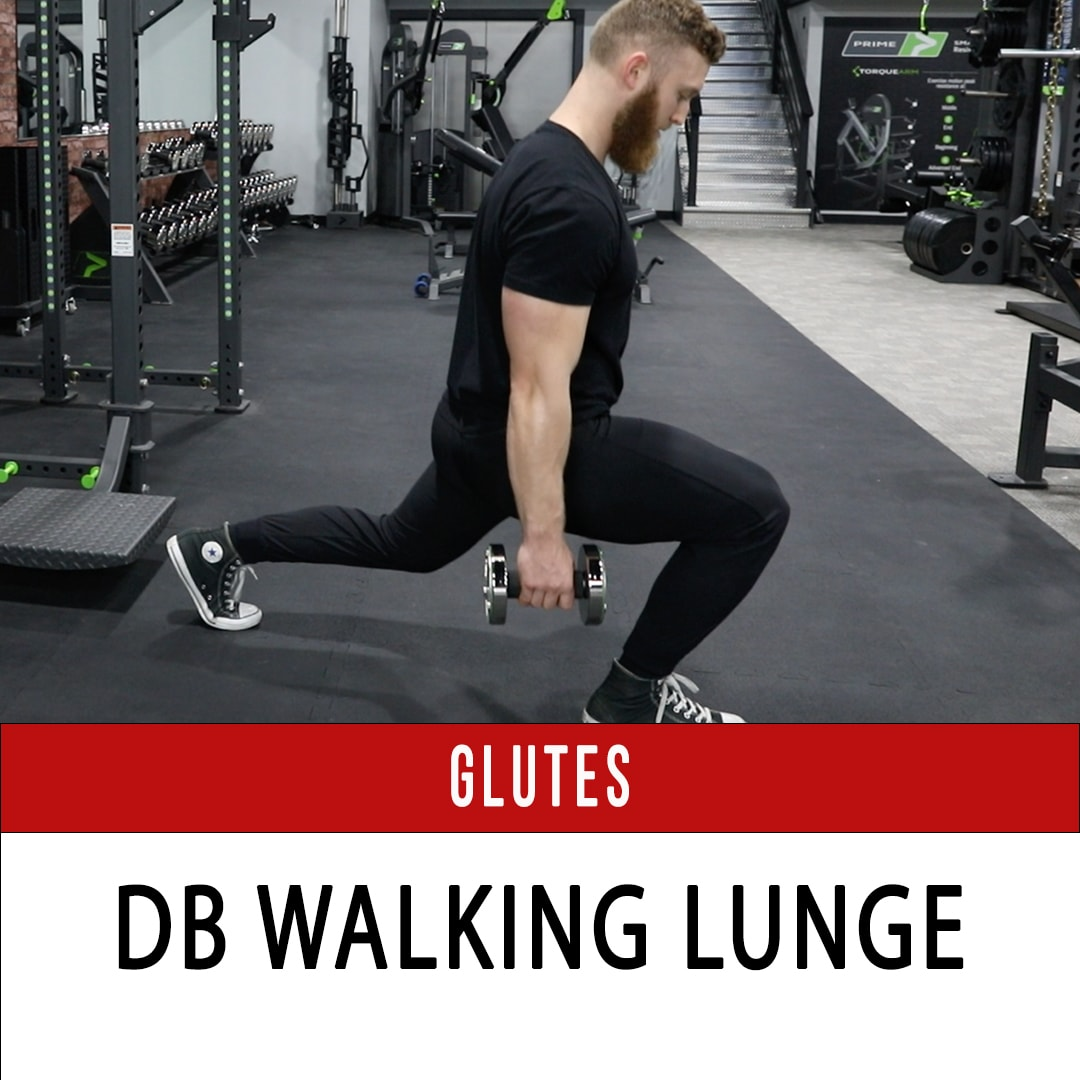 DB Walking Lunge Glute Dominant