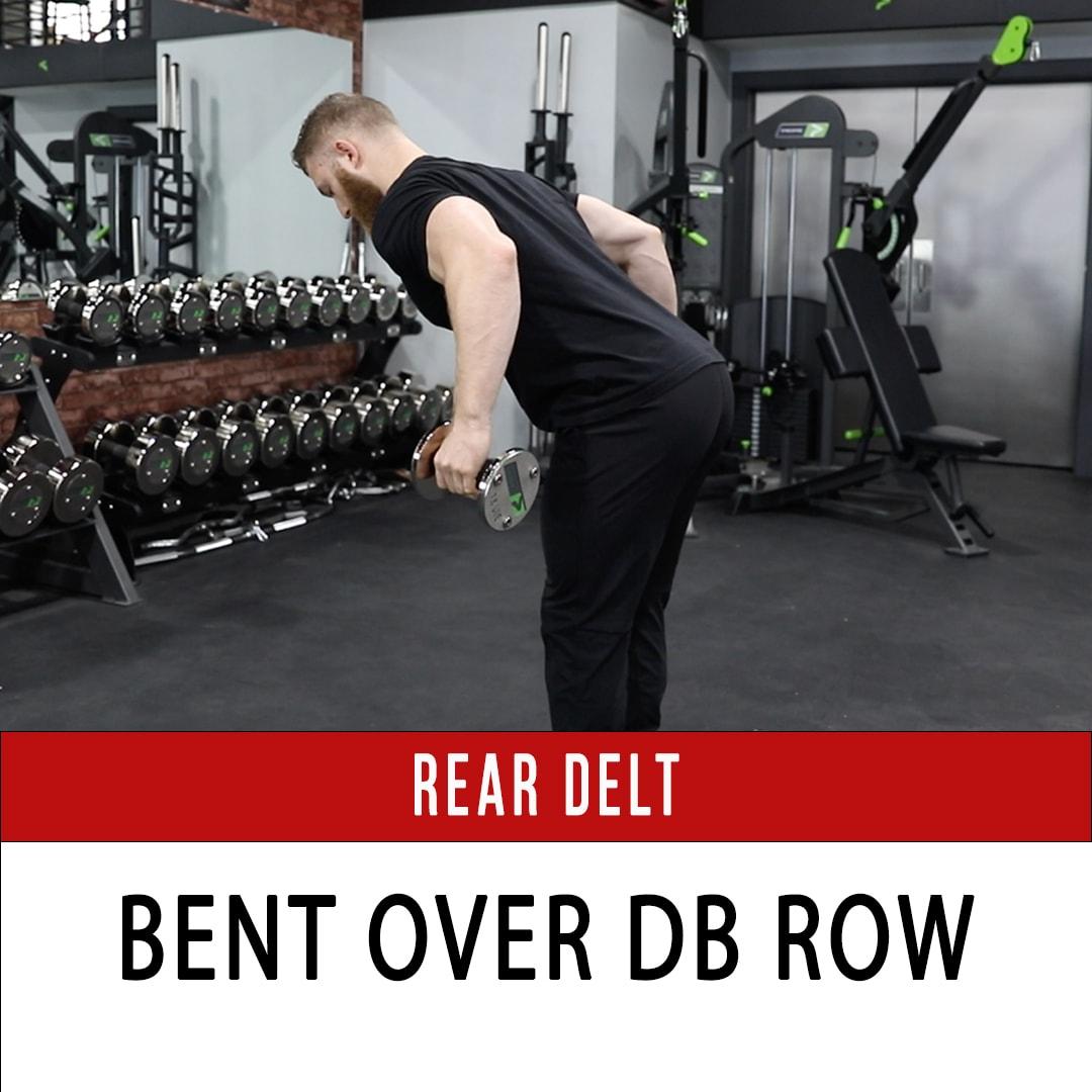 Rear Delt Bent Over DB Row