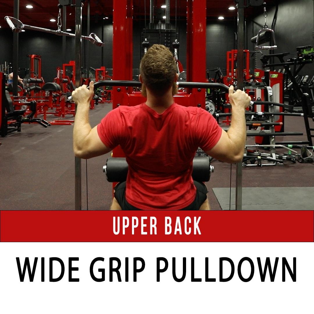 Upper Back Wide Grip Pulldown