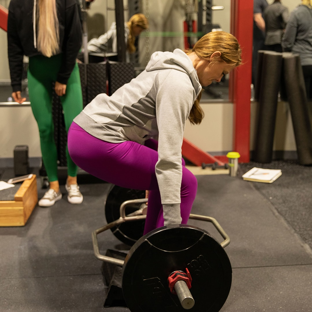 Heel Elevated Trap Bar Deadlift