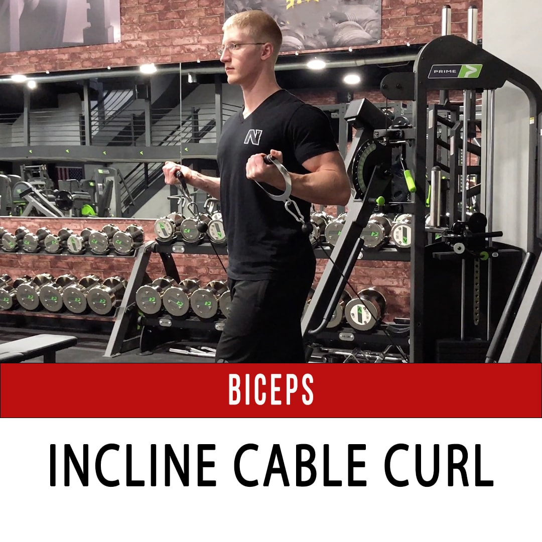 Biceps Incline Cable Curl