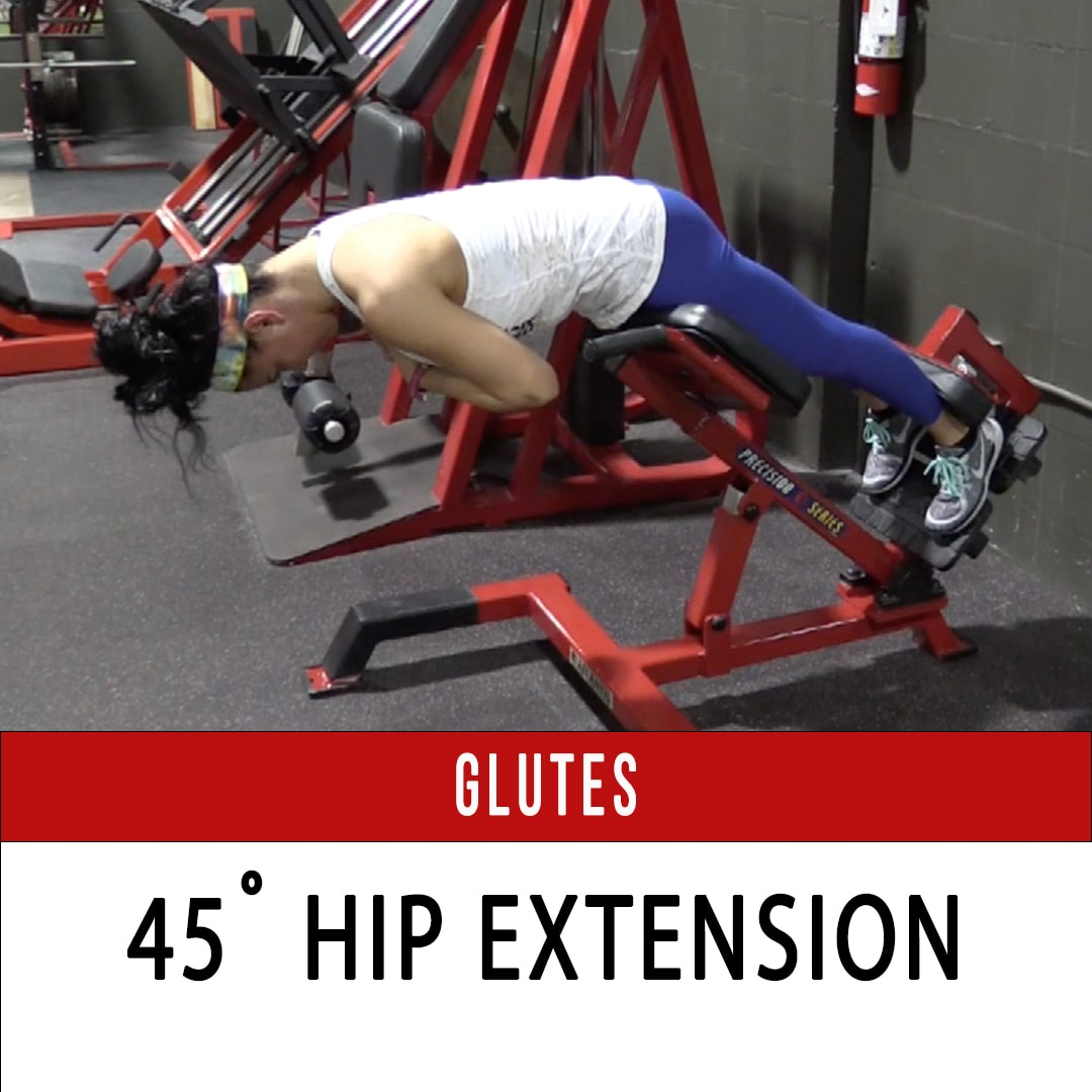 Glutes 45˙ Hip Extension
