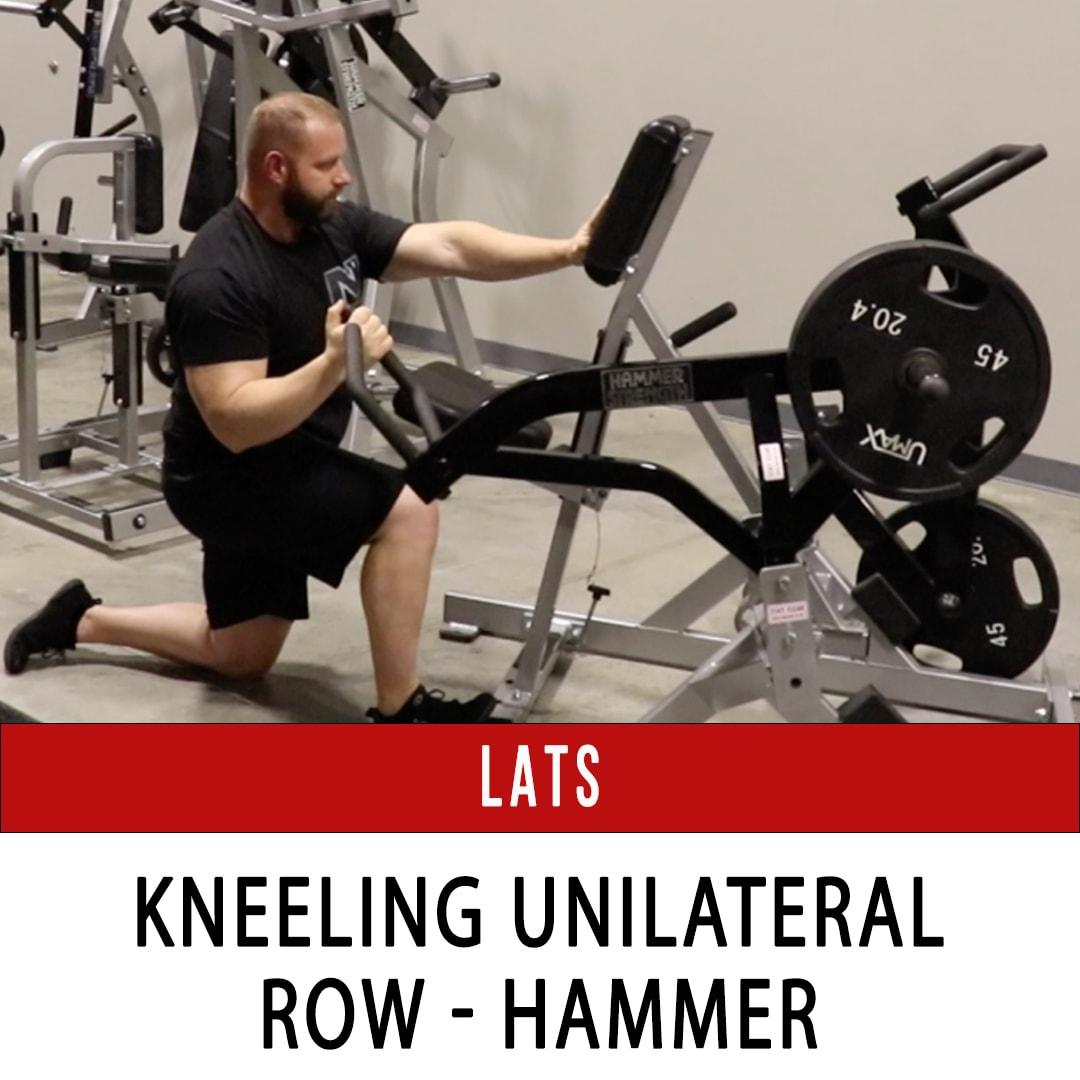 Lats Kneeling Unilateral Row - Hammer