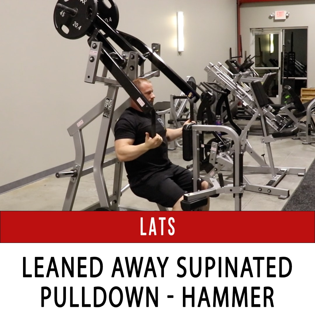 Lats Pulldown Leaned Away Semi-Supinated - Hammer