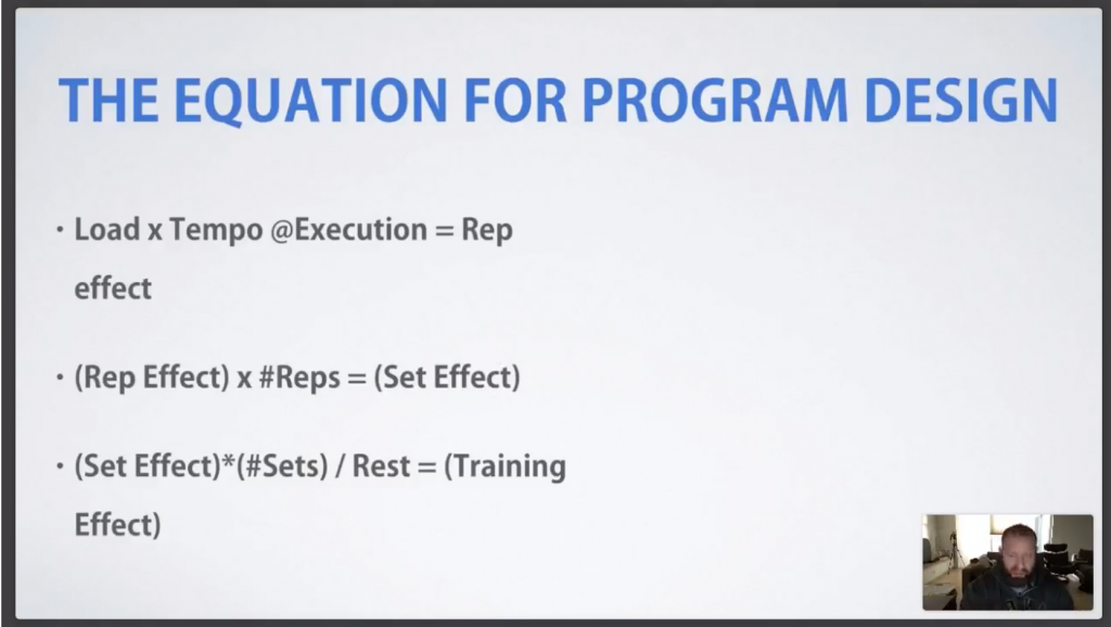 Webinar: Training Variables for Program Design
