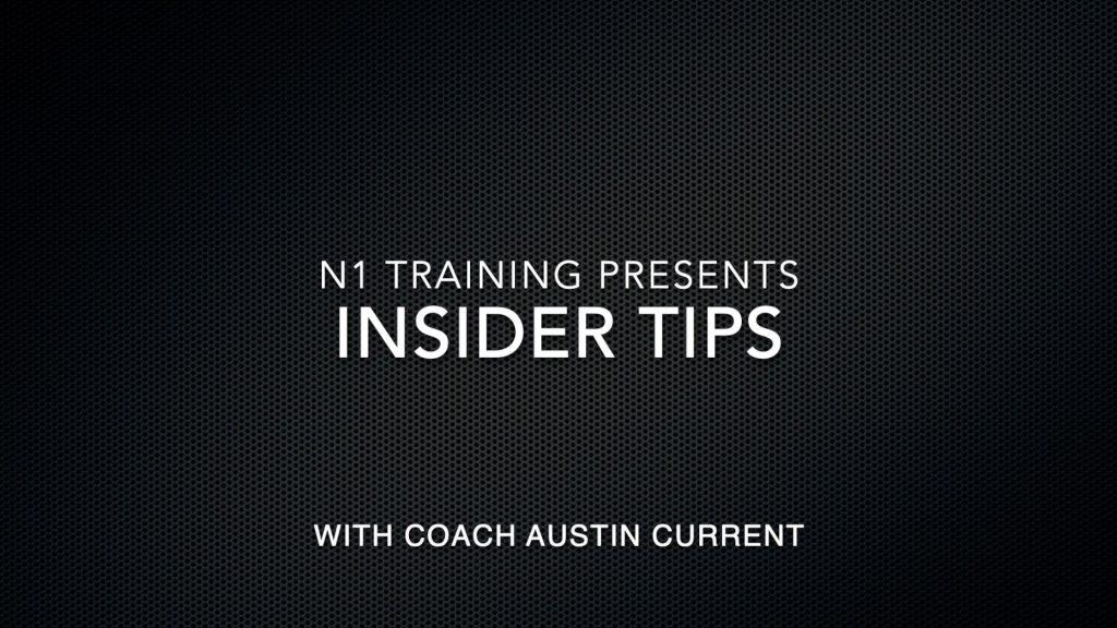 N1 Insider Tip #2 Coming Back After Time Off