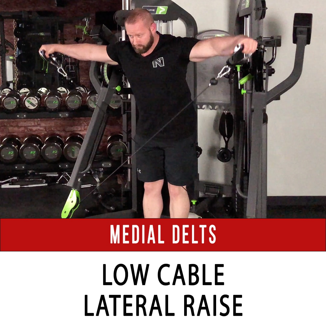 Medial Delt Low Cable Lateral Raise