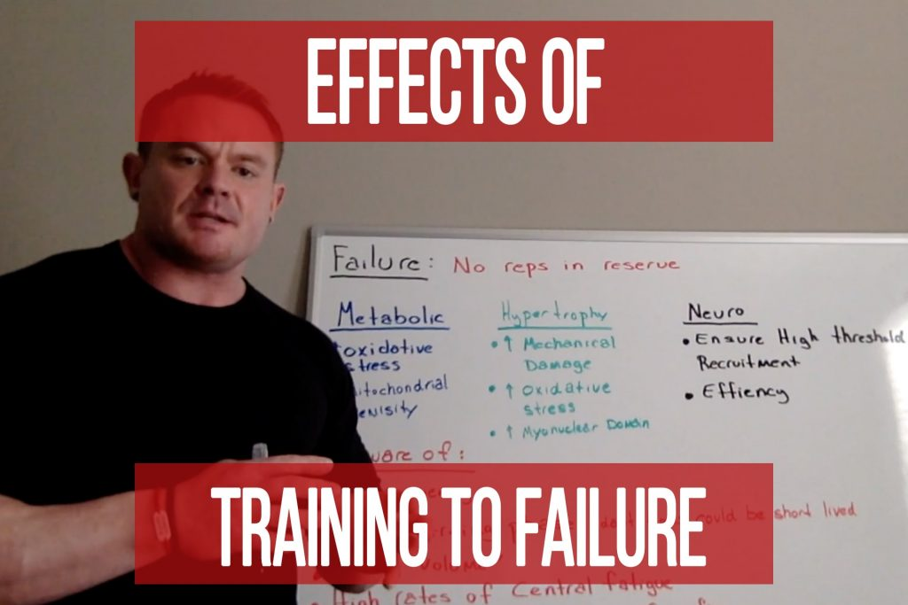 Effects of Training to Failure