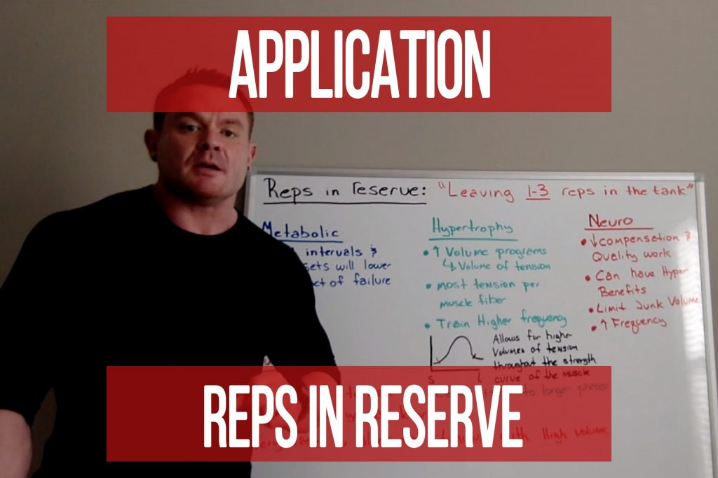 Application of Reps in Reserve