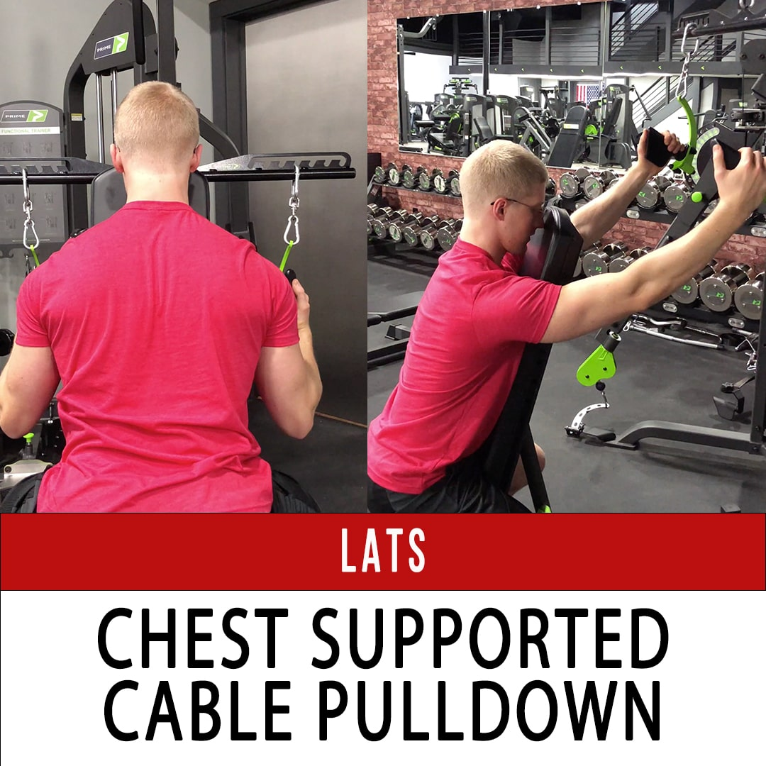 Lats Chest Supported Cable Pulldown