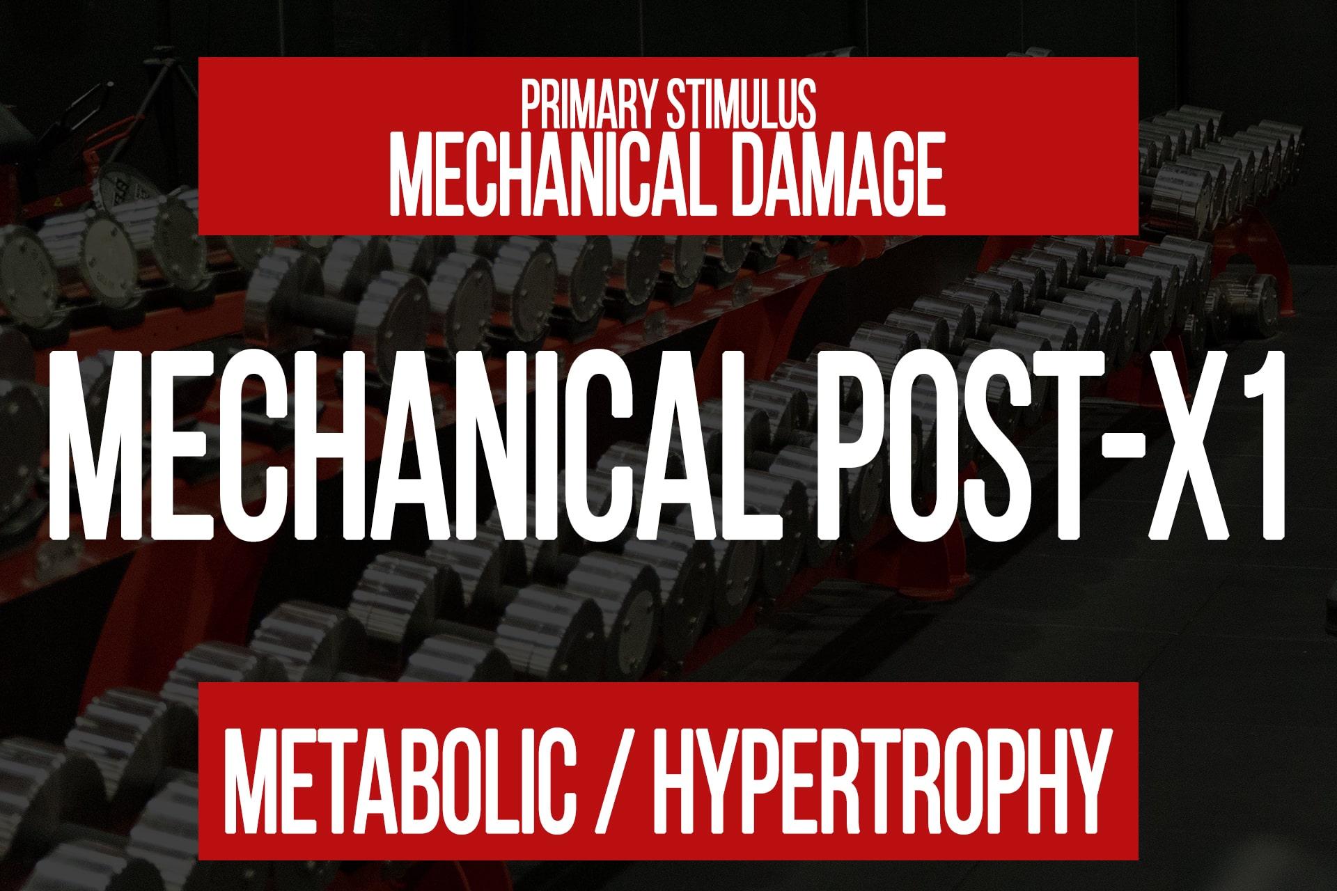 Mechanical Post-X1