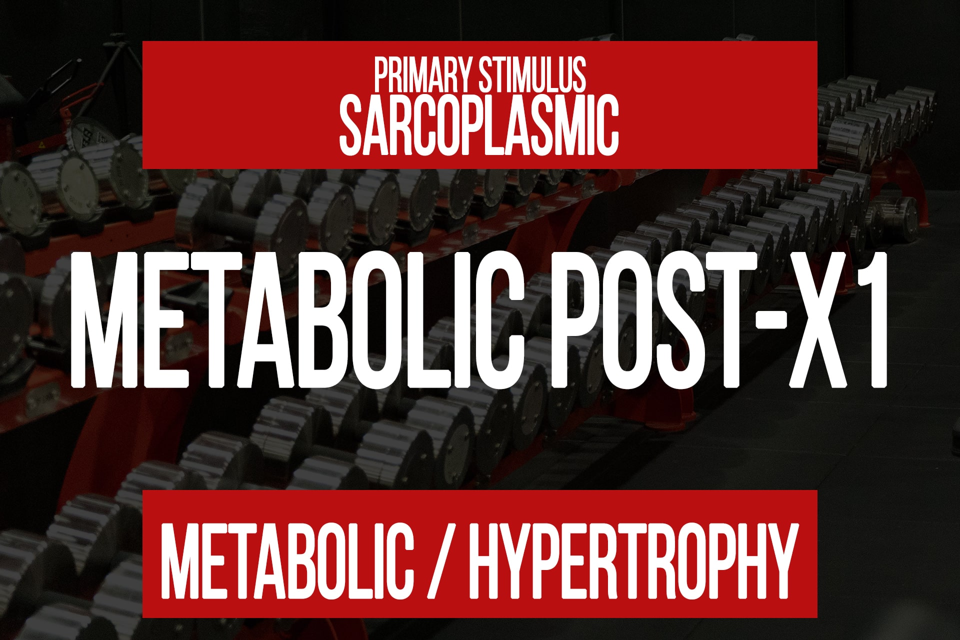 Metabolic Post-X1