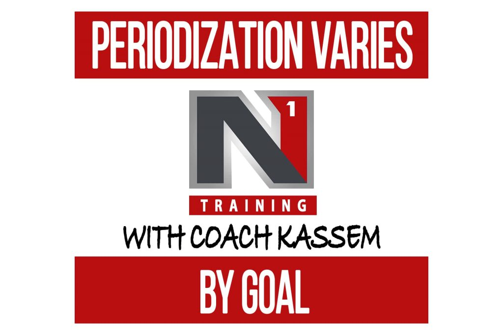 Periodization Varies for Different Goals