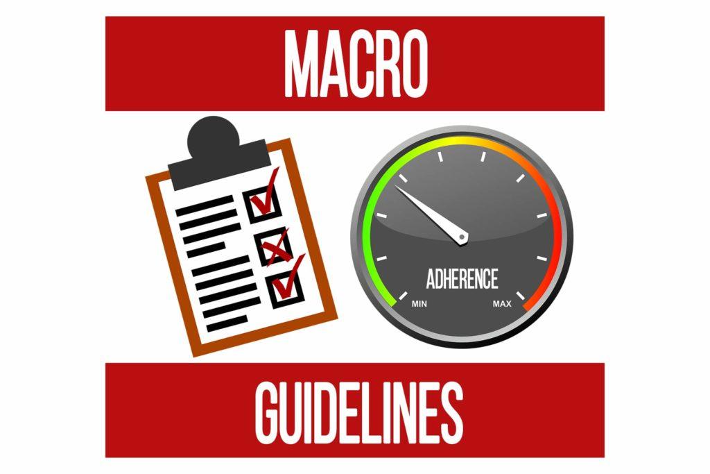 Macro Adherence Guidelines