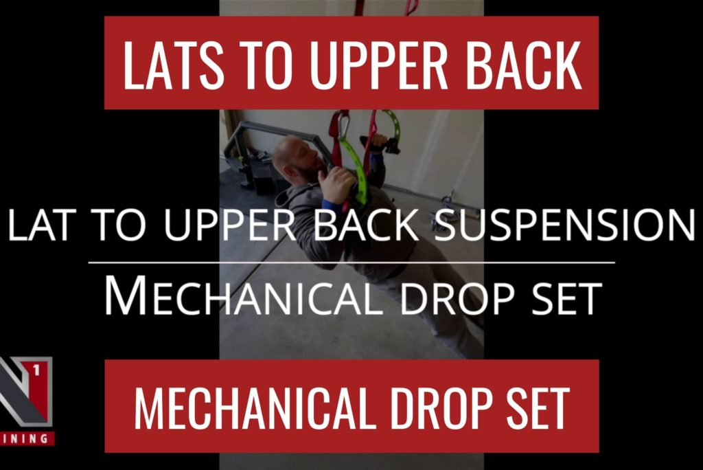 LATS TO UPPER BACK & REAR DELT MECHANICAL DROP SET – HOME WORKOUT