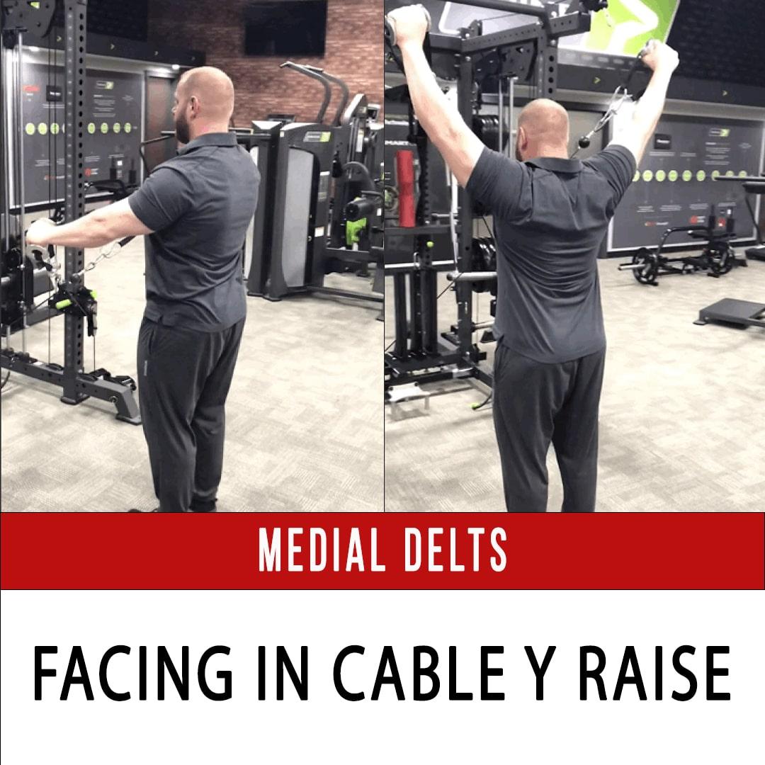 Medial Delt Facing In Cable Y Raise