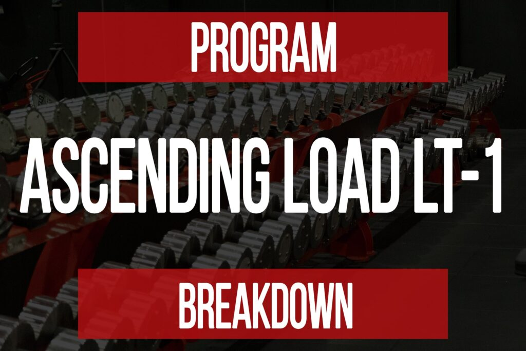 Program Breakdown: Ascending Load LT-1