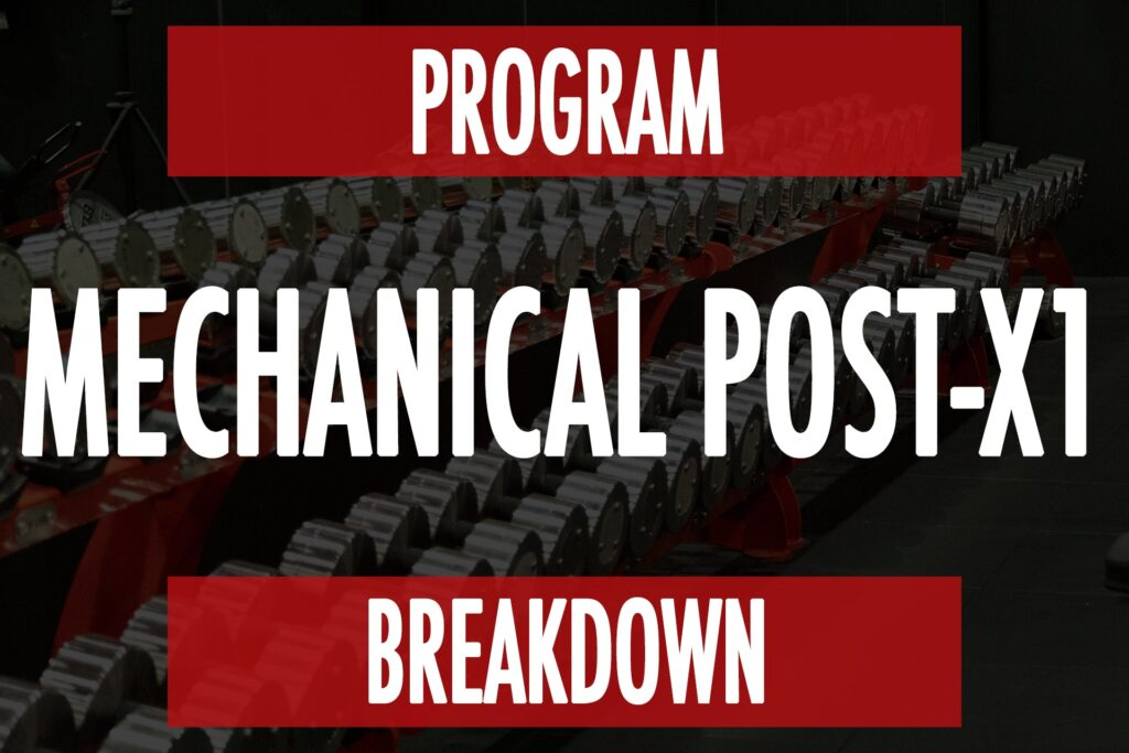 Program Breakdown: Mechanical Post-X1
