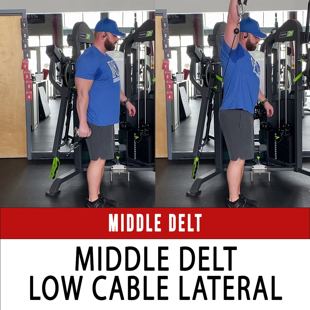 Middle Delt Low Cable Lateral Raise
