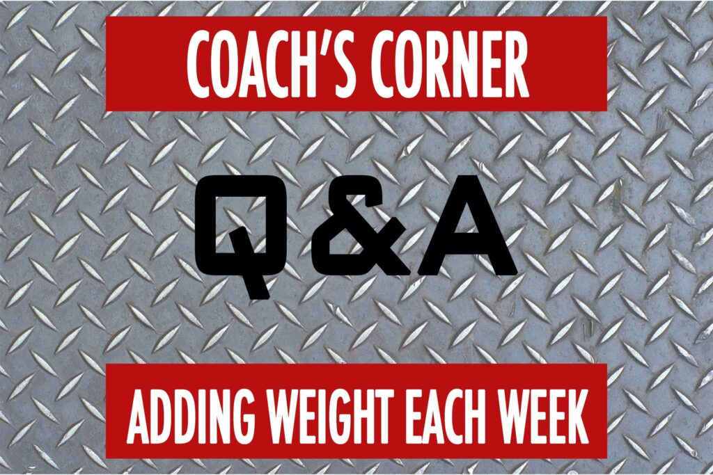 Coaches Corner Q&A: Weekly Workout Progression
